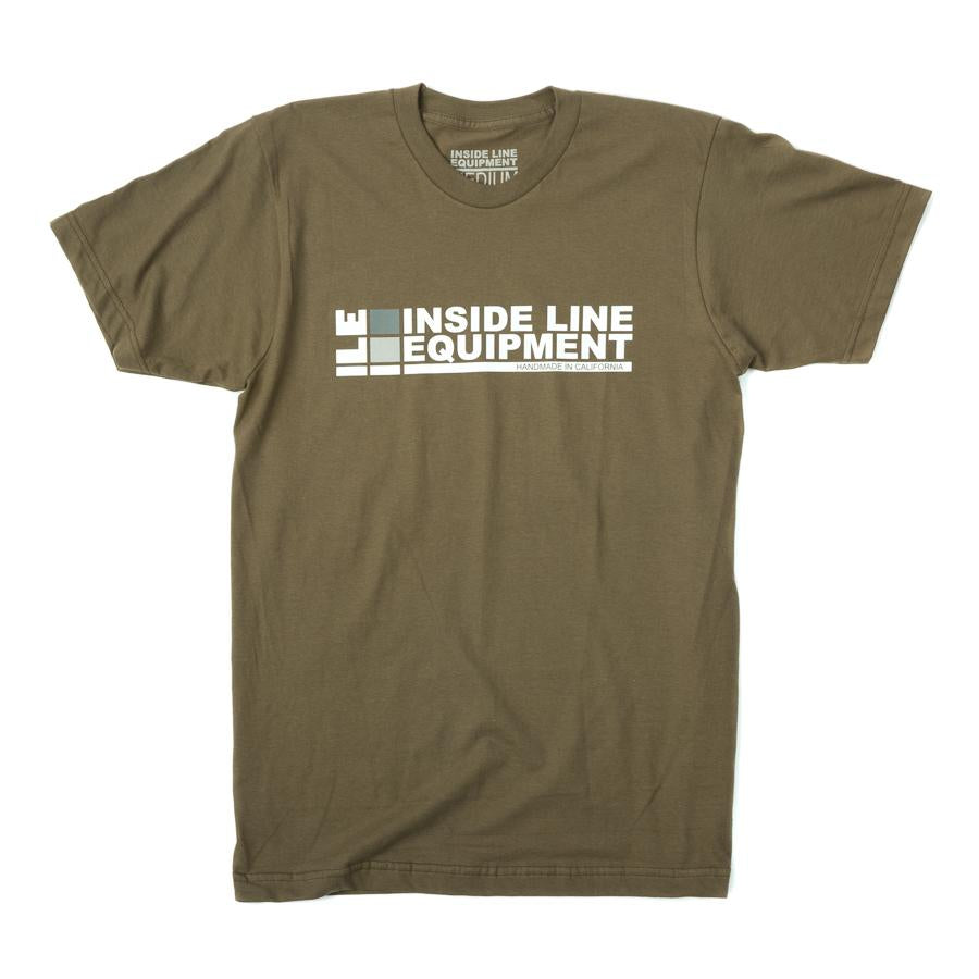 ILE Logo Tee Shirt - Army - Ride Auburn