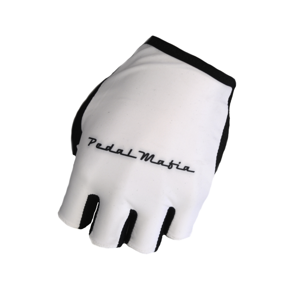 Pedal Mafia Tech Glove White - Ride Auburn