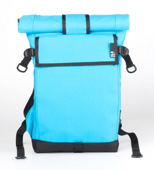 ILE Transit backpack - 15 litre cyan; handmade in the USA
