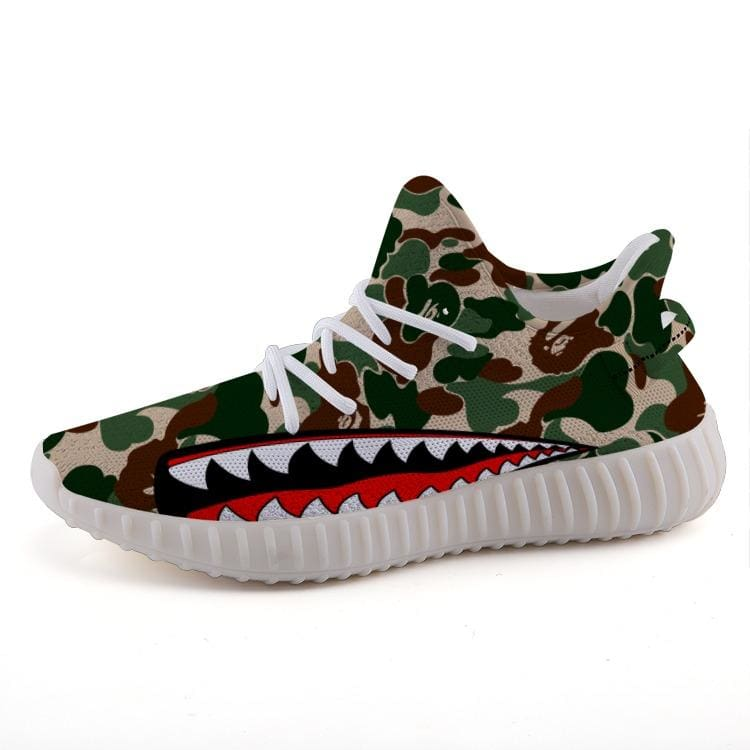 83f34443b Bape Camo Shark Style Yeezy Boost Inspired 350v2 Shoes Ultraboost