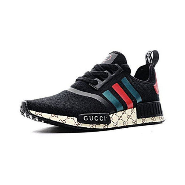 03365d2b7 Gucci Adidas Inspired NMD Black Runner R1 Prime Knit Shoes – Hypemini