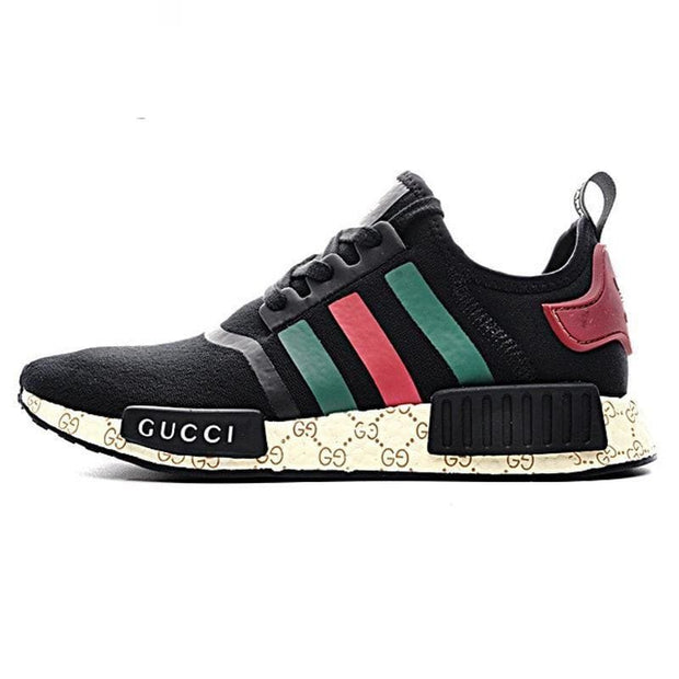 406d969f565 Gucci Adidas NMD Black Runner R1 Prime Knit Shoes – Hypemini