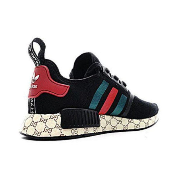 4b3b69f7191f6 Gucci Adidas Inspired NMD Black Runner R1 Prime Knit Shoes – Hypemini