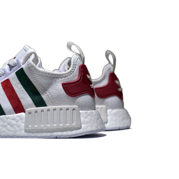 7cb2680d88b9d Gucci Adidas NMD White Runner R1 Prime Knit Shoes – Hypemini