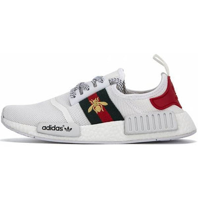 d03595b9a Gucci Bee White Adidas Inspired NMD R1 Primeknit Shoes - Men   7 - Shoes
