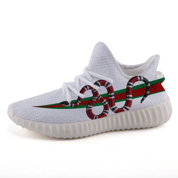487c94ea7 Gucci Gang Lil Pump Yeezy Inspired Stripe Italian Coral Snake 350 v2  Ultraboost Shoes. Regular price  69.99
