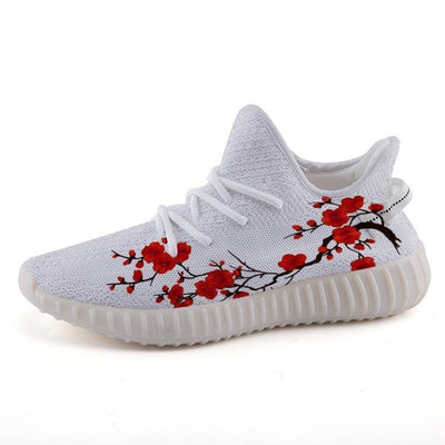 9091befbd52  High Quality Custom Art Clothing   Accessories Online  - Hype Mini. Hype  Japanese Cherry Blossom Yeezy Style 350v2 Ultraboost Shoes