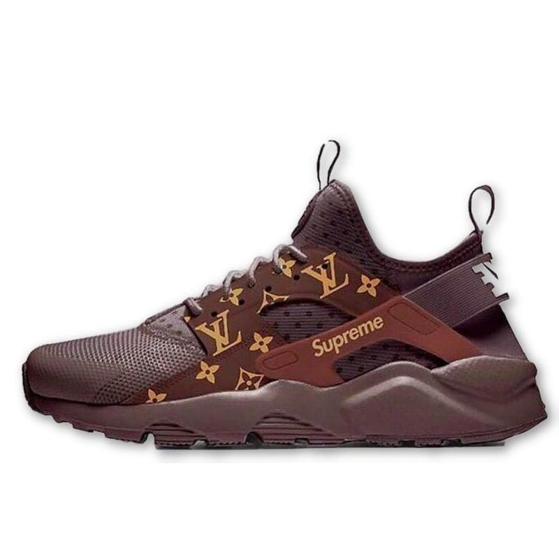 9f88d236b7eaa Supreme Louis Vuitton Nike Air Huarache Run Monogram Brown Shoes – Hypemini