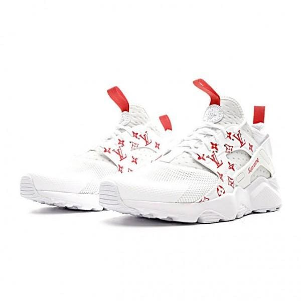 b2820284feba Supreme Louis Vuitton Nike Inspired Air Huarache Run Monogram White Red  Shoes - Shoes