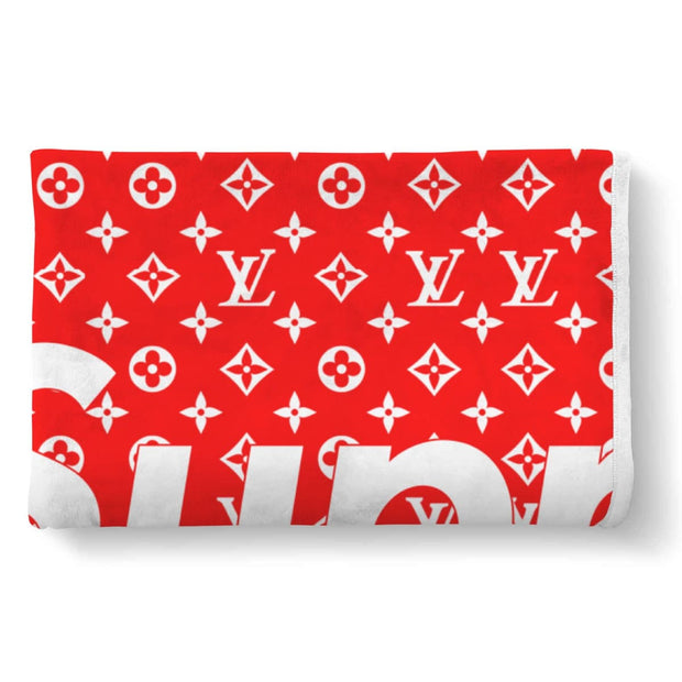 6085327d8b2 Supreme x Louis Vuitton Monogram Custom Thick Sherpa Fleece Blanket ...