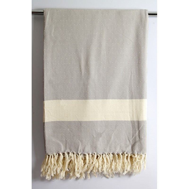 Turkish Blanket - Handwoven Organic Cotton - Diamond Pattern