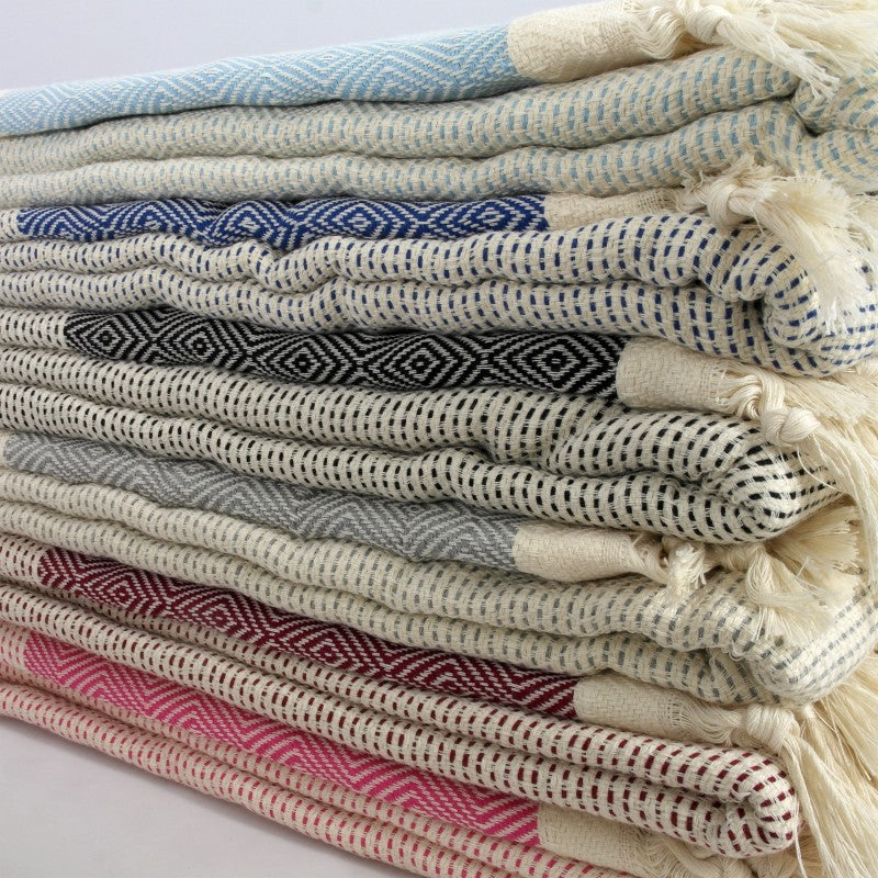 Turkish Blanket - Handwoven Organic Cotton - Mismatched Design
