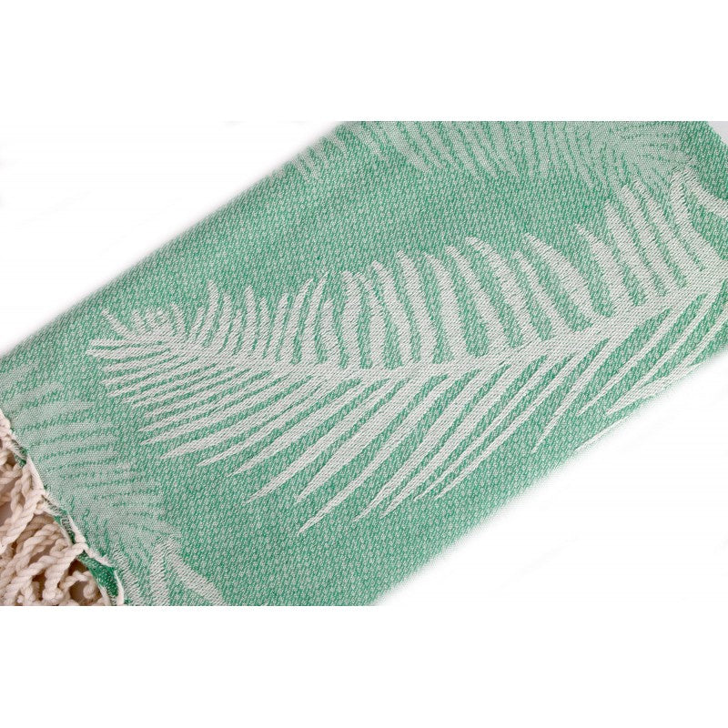 Organic Cotton - Handwoven Turkish Towels - Palm Leaves