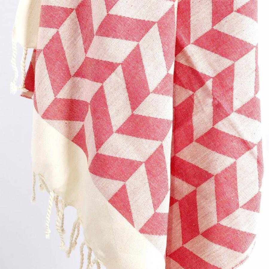 Organic Cotton - Handwoven Turkish Towel - Chevron