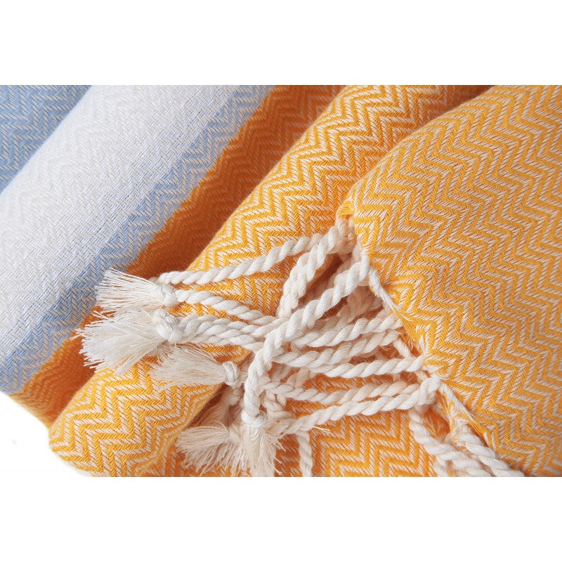 Organic Cotton - Handwoven Turkish Towel - Tri-Color