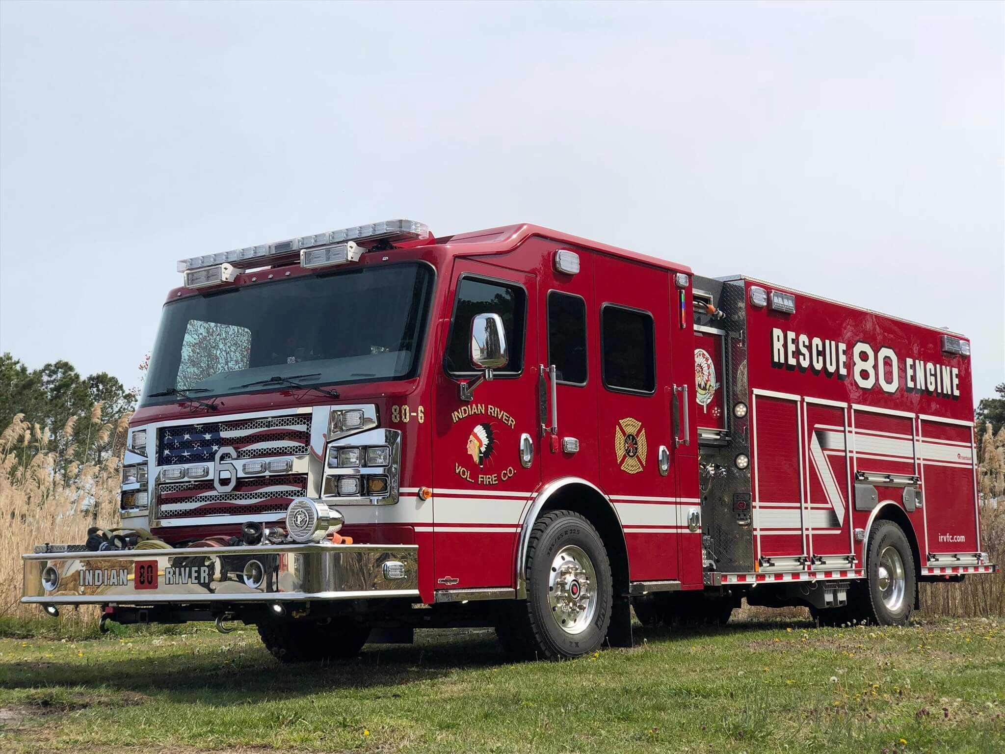Indian River Vol. Fire Co., Sussex County DE | Custom Logo The Ultimate Firefighter Recliner