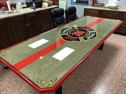 custom firehouse dining table