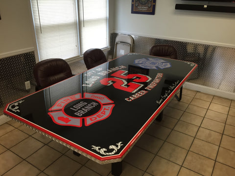 fire department dining table
