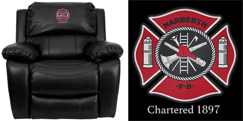embroidered firehouse recliner