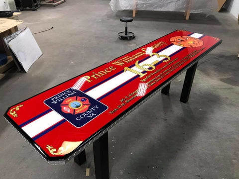 custom logo firehouse table