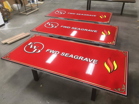 custom firefighter dining table