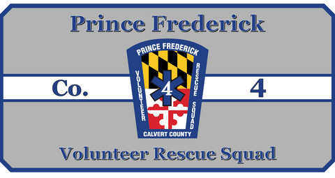 prince frederick volunteer rescue custom logo table
