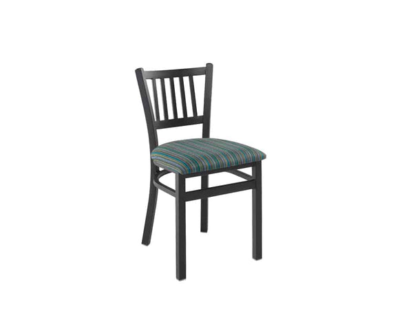 Firehouse Collection™ Vertical-Slat Metal Dining Chair - Padded Seat