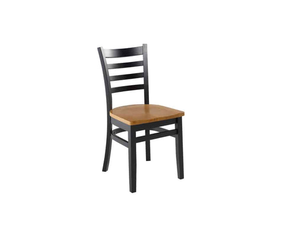 Firehouse Collection™ Ladder-Back Wood Dining Chair - Wood Seat