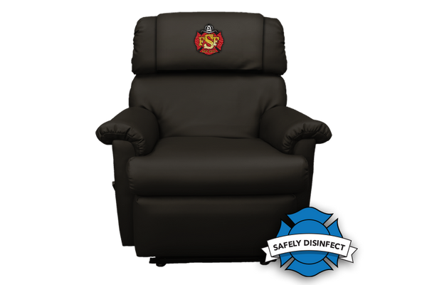 The Ultimate Firefighter Recliner™ CUSTOM EMBROIDERED - SPACE SAVER - FREE SHIPPING with 2+