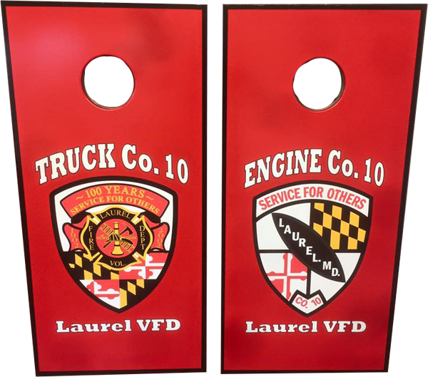 Custom Logo Cornhole Boards - Fire Station Furniture