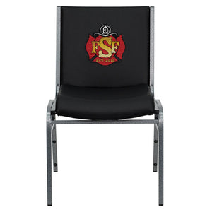 Duty-Built™ CUSTOM EMBROIDERED 550 lb. Capacity Heavy Duty Stack Chair - FREE SHIPPING - Fire Station Furniture