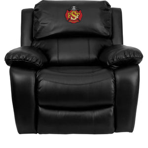 Duty-Built™ Engine Co. CUSTOM EMBROIDERED Rocker Recliner - FREE SHIPPING with 2+ - Fire Station Furniture