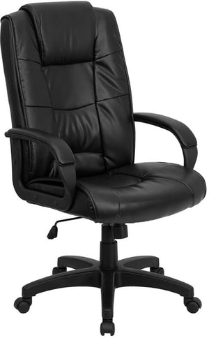 Duty-Built™ Station Basics High Back Executive Swivel Office Chair with Arms - FREE SHIPPING - Fire Station Furniture