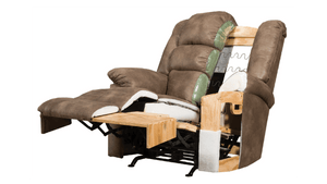 Duty-Built™ Squad Co. Heavy-Duty 500 lb. Genuine Leather Heavy-Duty Recliner - FREE SHIPPING AVAILABLE* - Fire Station Furniture