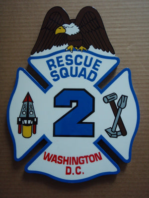Custom Firehouse Logo Wall Shield - Fire Station Furniture