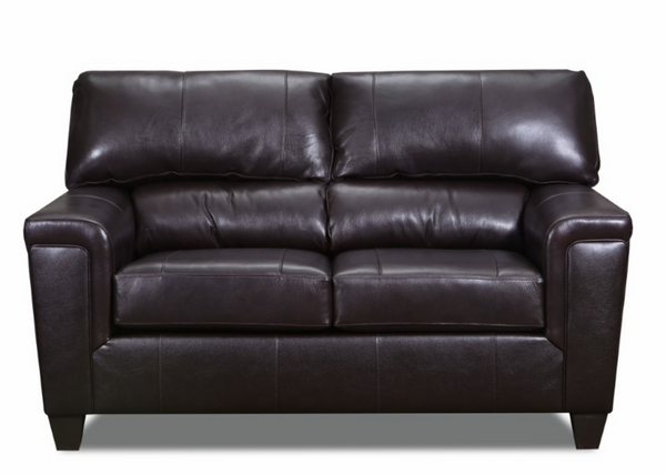 Duty-Built™ Genuine Leather Loveseat - FREE SHIPPING - Fire Station Furniture