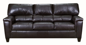 Duty-Built™ Genuine Leather Sofa - FREE SHIPPING - Fire Station Furniture