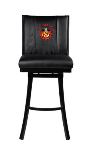 Duty-Built® CUSTOM EMBROIDERED Contemporary Swivel Barstool - FREE SHIPPING with 2+