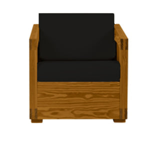 Firehouse Collection Solid Wood Chair - Fire Station Furniture