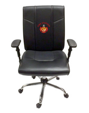 Duty-Built® CUSTOM EMBROIDERED 300 lb. Rated Office Chair w/Adjustable Arms - FREE SHIPPING with 2+