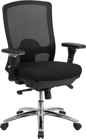 Duty-Built™ 350 lb. Mesh Multifunction Swivel Chair - FREE SHIPPING - Fire Station Furniture