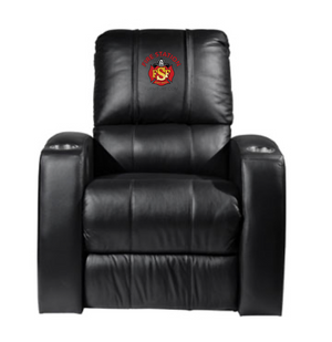 Duty-Built® CUSTOM EMBROIDERED Top-Grain Leather Theater-Style Recliner - FREE SHIPPING with 2+