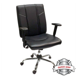 Duty-Built® 300 lb. Rated Office Chair w/Adjustable Arms - FREE SHIPPING with 2+