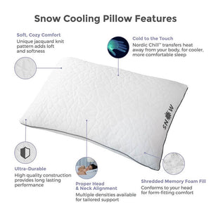 Snow Cooling Pillow with Shredded Memory Foam Fill - Fire Station Furniture
