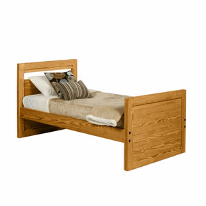Firehouse Collection™ Half Bunk Bed - Solid End - Fire Station Furniture