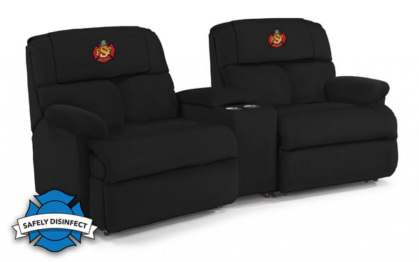 The Ultimate Firefighter Recliner™ Custom Embroidered Modular Theater Seating - FREE SHIPPING
