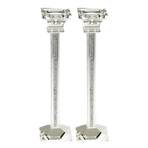 "11"" Tall Crystal Candlesticks"