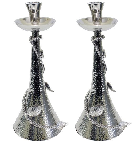 "12"" Hammered Candlesticks"