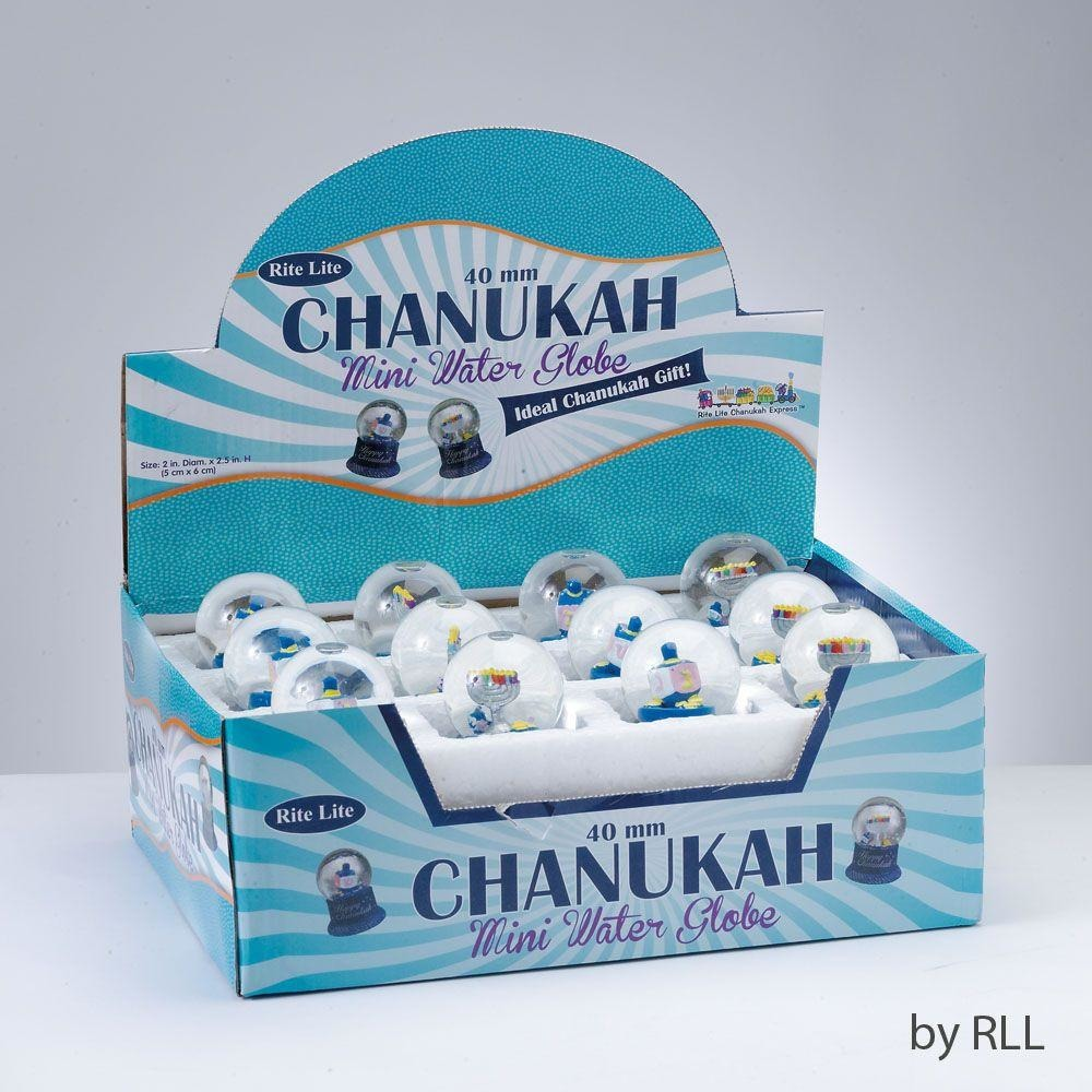 Chanukah Mini Water Globe
