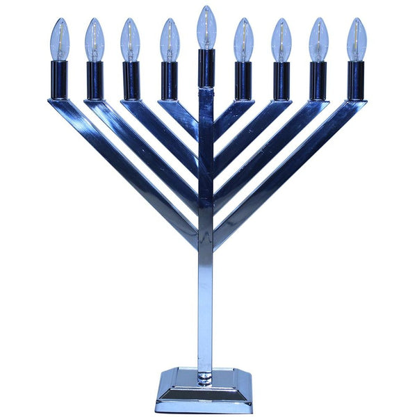18'' LED Chrome Display Menorah